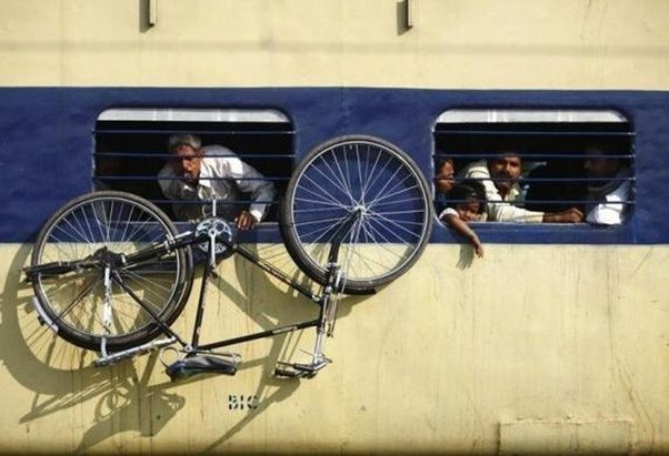 Transporting Bicycle in Train