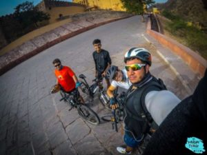 Cycling at Amer for tin Jaipur