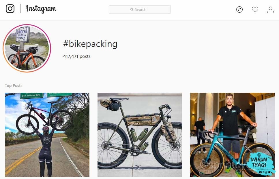 Instagram hashtags for cycling