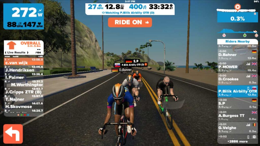zwift cycling app