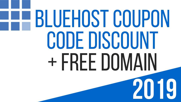 Bluehost hosting discount with free domain name and SSL.