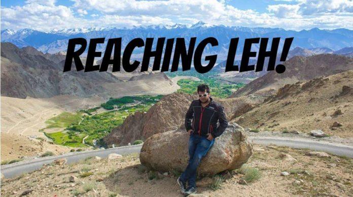reaching leh ladakh