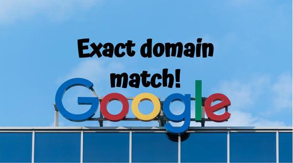 exact domain match