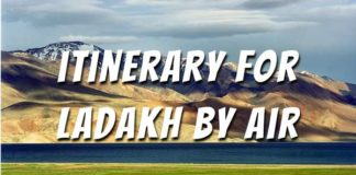 Ladakh Itinerary by flight