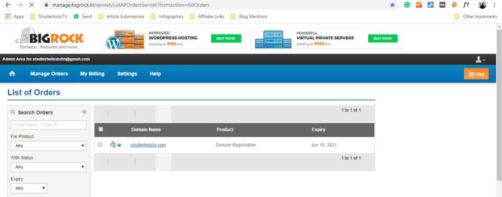 Pointing domain to hosting require you to key in the details in your domain dashboard.