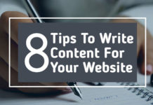 Tips To Write Content for your website