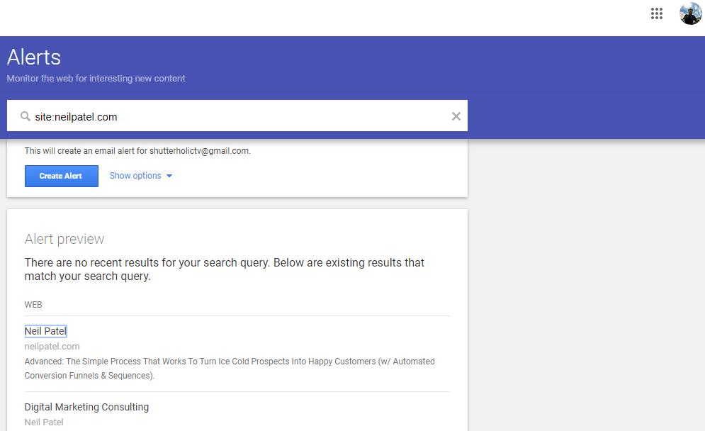 Create Google alerts for your competitors websites.