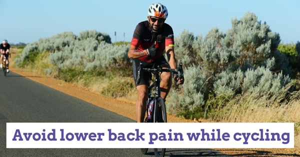 How to avoid lower back pain while cycling