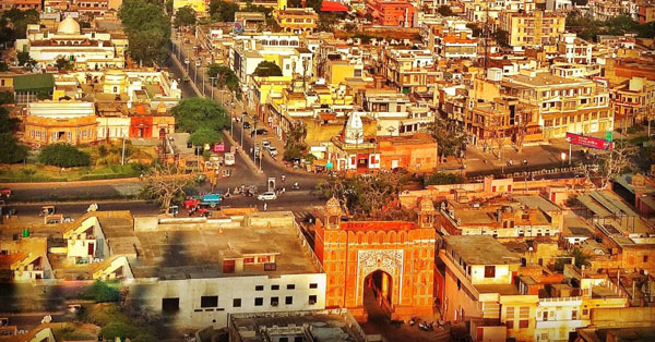 Galta gate is the entry point of the  temple in Jaipur