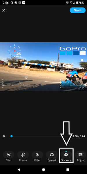 Importing footage from GoPro to mobile application.