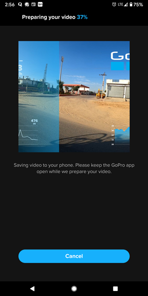 Saving the video with GoPro GPS stickers in your phone.