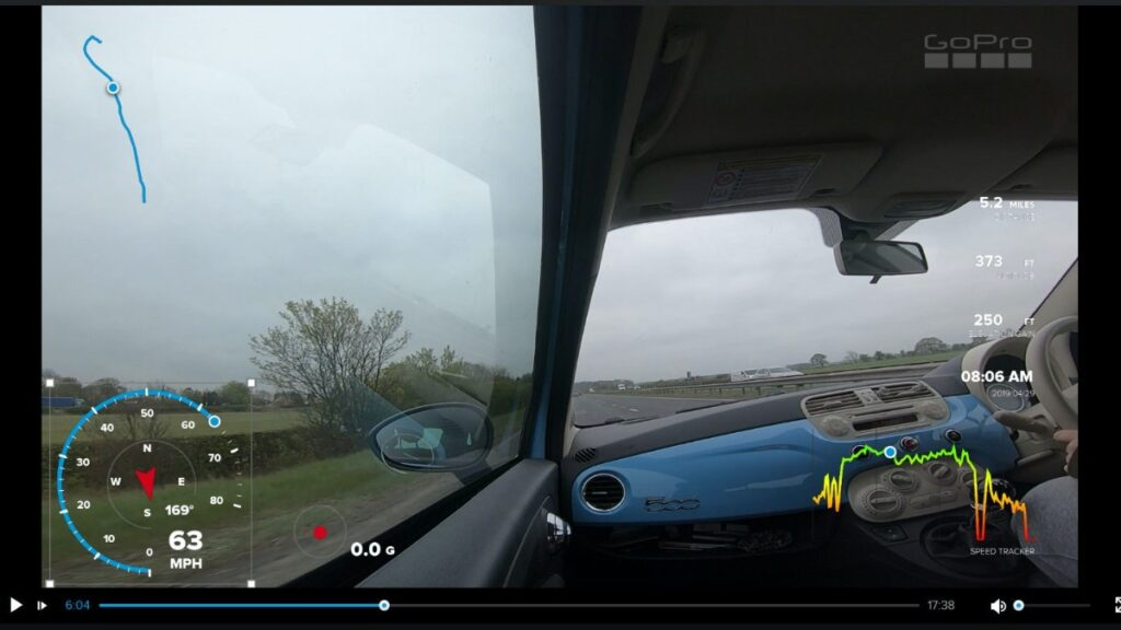 GoPro GPS telemetry data stickers in GoPro videos