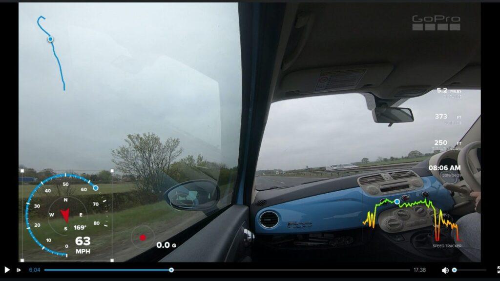 GoPro GPS telemetry data stickers in GoPro videos