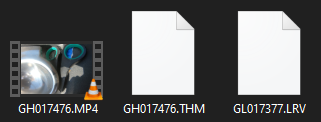 THM & LRV files in a GoPro Hero 8