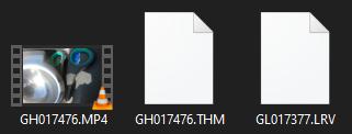 THM & LRV files in a GoPro Hero 8