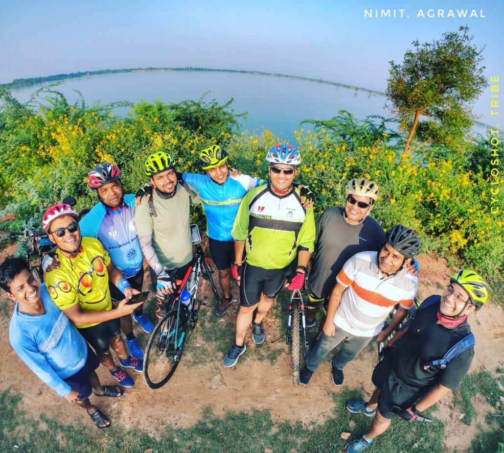 Members of Cycloshot tribe at Chandlai lake in Jaipur