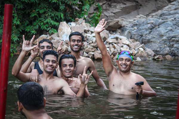 Sagar trek in Jaipur gets you to the waterfall is a place where you can go for a swim