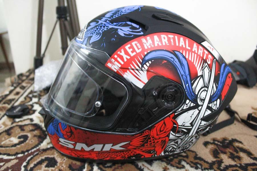 motovlog helmet setup