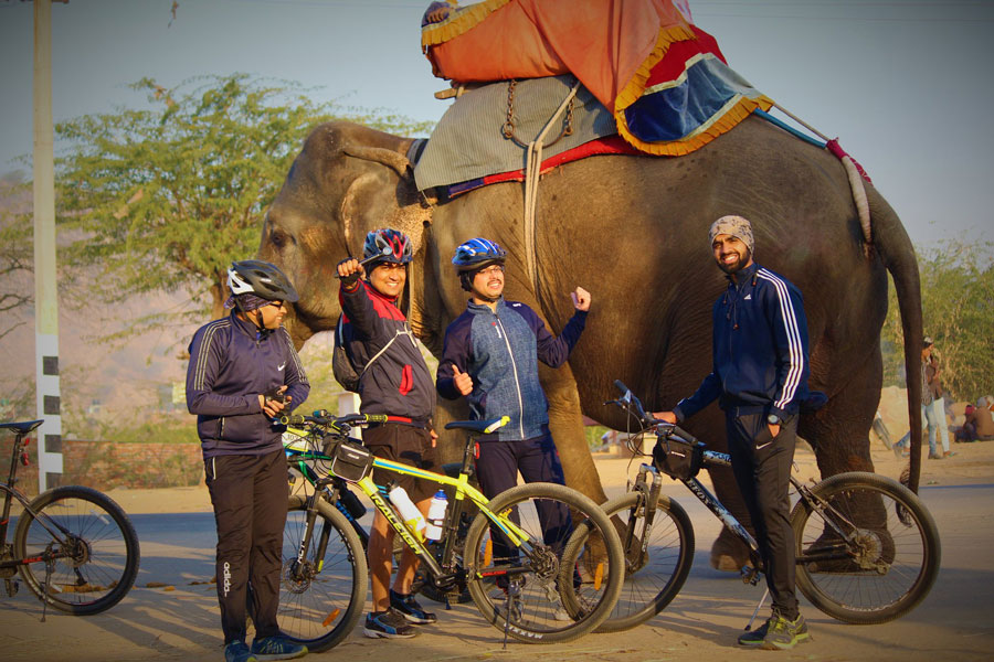 Cycling tours for elephant village in Jaipur